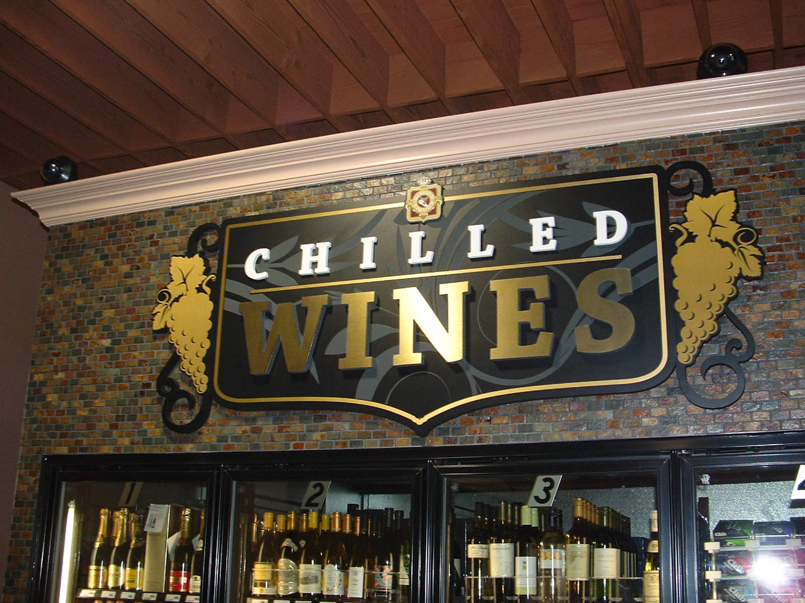 Mission Wine & Spirits - Chilled Wines Sign